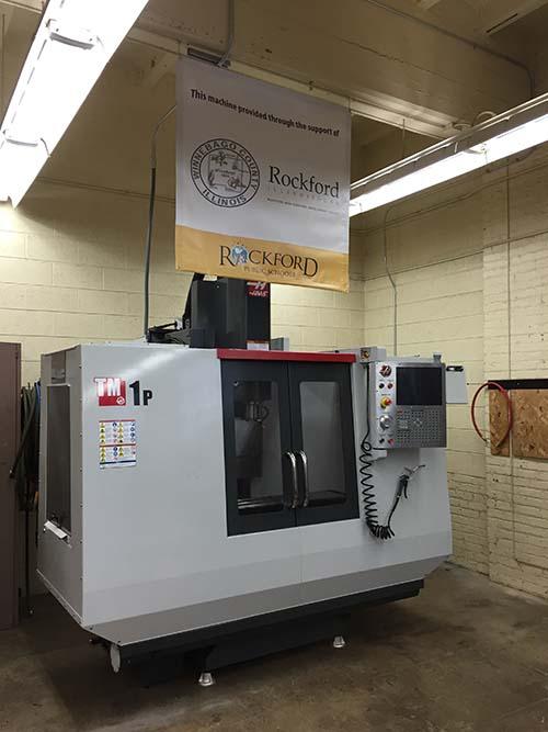 CNC Machine Installed at Roosevelt