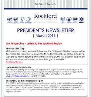 March 2016 President's Newsletter is Out